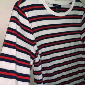 Red, white, and blue striped long sleeve!